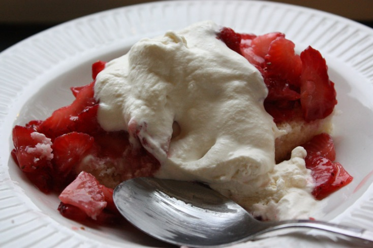 eaten strawberry shortcake