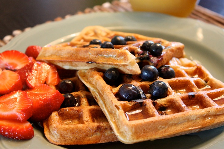plated waffles