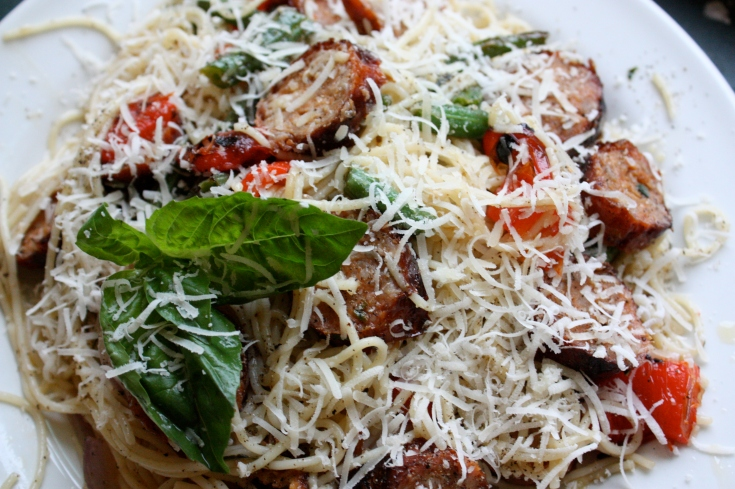 Sausage, basil pasta
