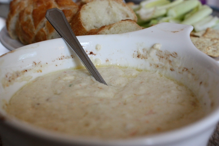 Oven baked crab dip